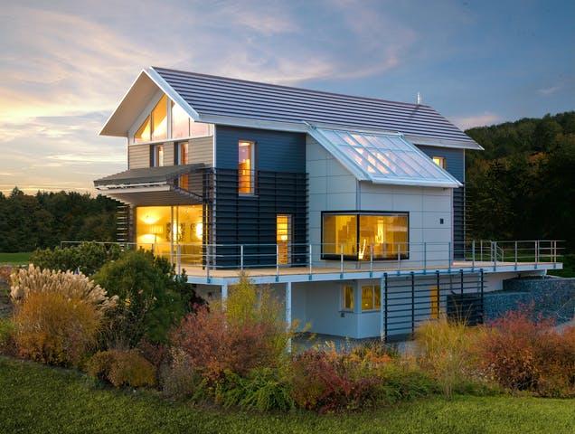 Modernes, energieeffizientes Haus