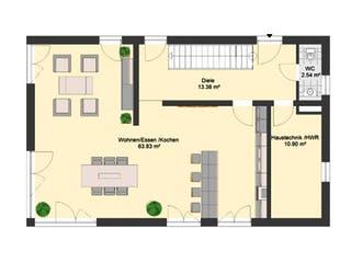 Bauhaus 115 von invivo haus Grundriss 1