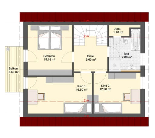 Invivo Klassik 80 Floorplan 2