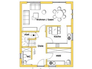 Isa 2 (KfW-Effizienzhaus 40) von Dammann-Haus Grundriss 1