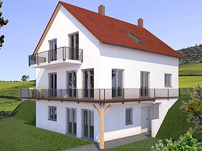 Dreigeschossiges Haus mit Satteldach von Isar-Haus