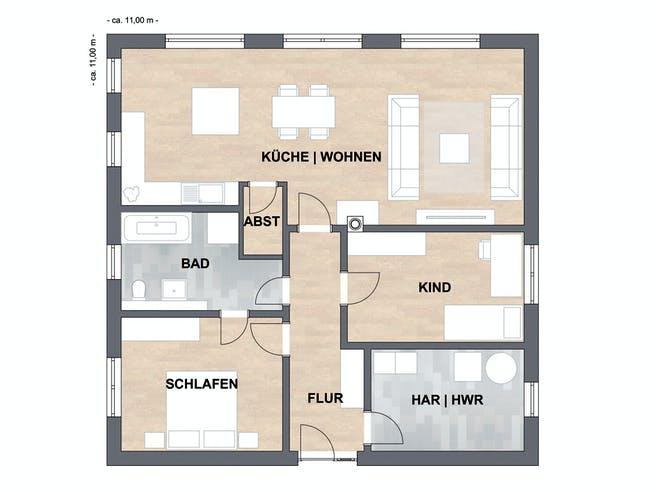 ISAR-Haus Klein Floorplan 1