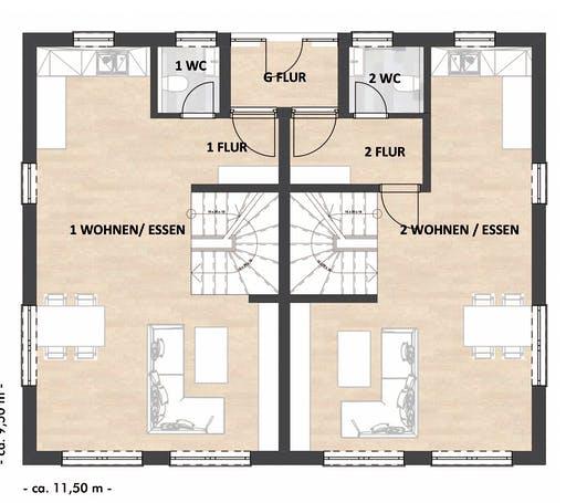 ISAR-Haus Richter-Schwarz Floorplan 1
