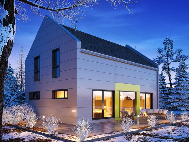Jedermann Design von Büdenbender Hausbau Außenansicht 1