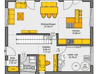 Jedermann Design von Büdenbender Hausbau Grundriss 1