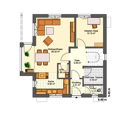 Jubiläumshaus Floorplan 1