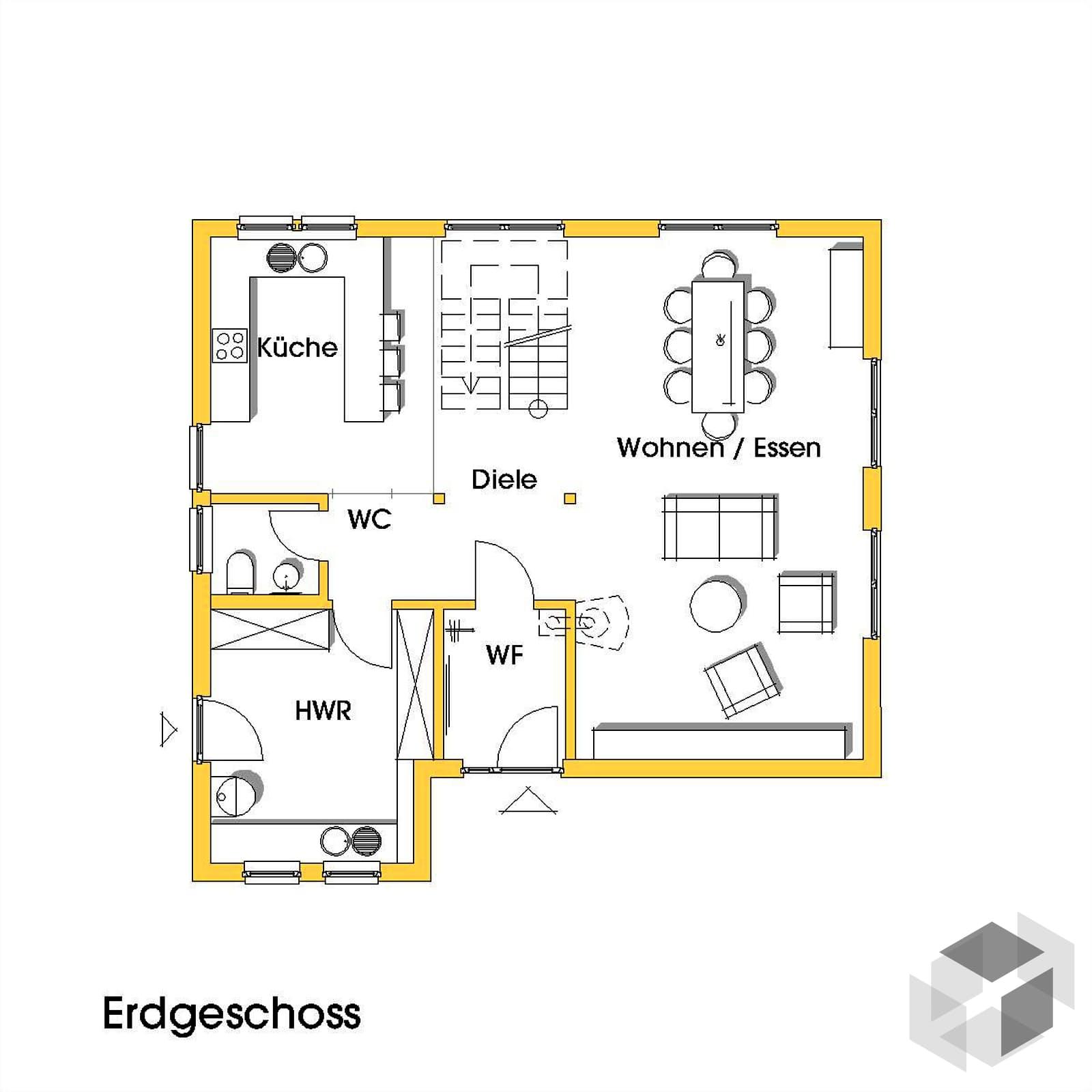 julia 2 kfw effizienzhaus 40 von dammann haus. Black Bedroom Furniture Sets. Home Design Ideas