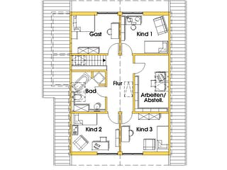 Julia 3 (KfW-Effizienzhaus 40) von Dammann-Haus Grundriss 1