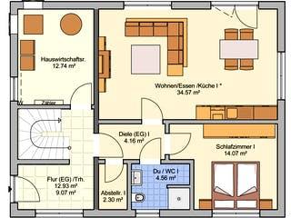 Junto 167 von Fingerhut Haus Grundriss 1