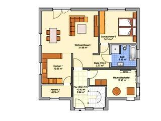 Junto 184 von Fingerhut Haus Grundriss 1