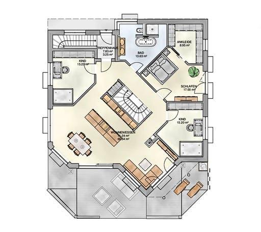 Kampa - Bungalow ELW Floorplan 1