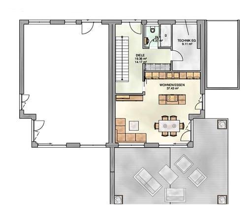 Kampa - Doppelhaus PD Floorplan 1
