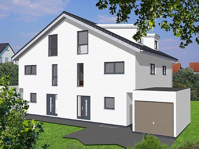 Doppelhaushälfte Satteldach von KAMPA Außenansicht 1