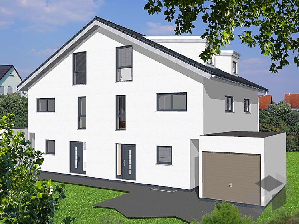 Doppelhaushälfte Satteldach von KAMPA Außenansicht