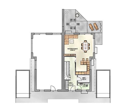 Kampa - DH Satteldach Floorplan 1