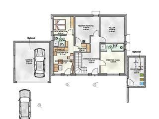 Einfamilienhaus mit Einliegerwohnung - Hanglage von KAMPA Grundriss 1