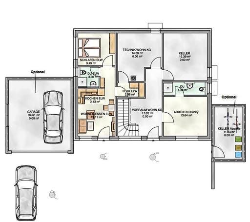 Kampa - EFH mit Einliegerwohnung 2 Floorplan 1