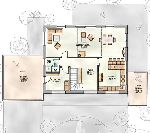Kampa - EFH mit Einliegerwohnung 2 Floorplan 2