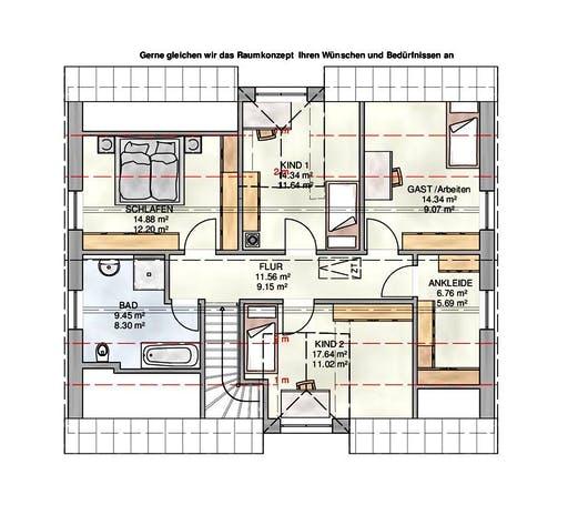 Kampa - EFH mit Einliegerwohnung 2 Floorplan 3