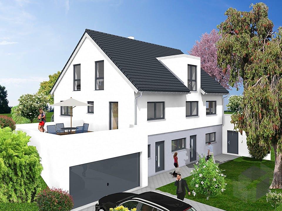 Einfamilienhaus mit Einliegerwohnung - Hanglage von KAMPA Außenansicht