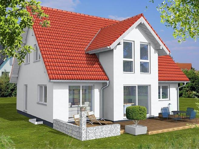 Einfamilienhaus mit Querhaus von KAMPA Außenansicht 1