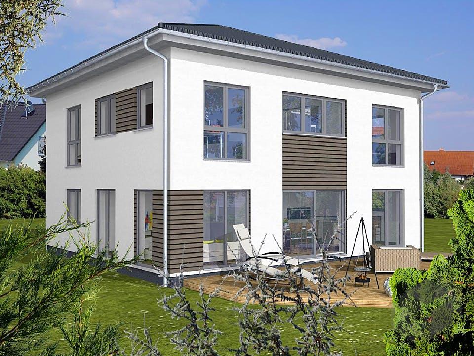 Einfamilienhaus Walmdach von KAMPA Außenansicht