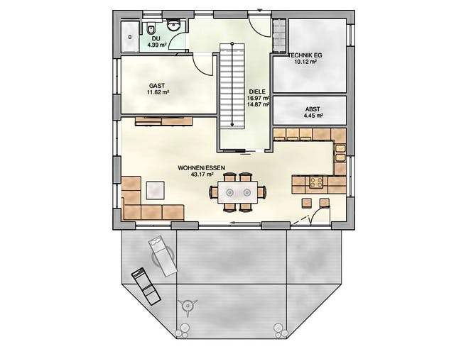 Kampa - EFH Walmdach Floorplan 1