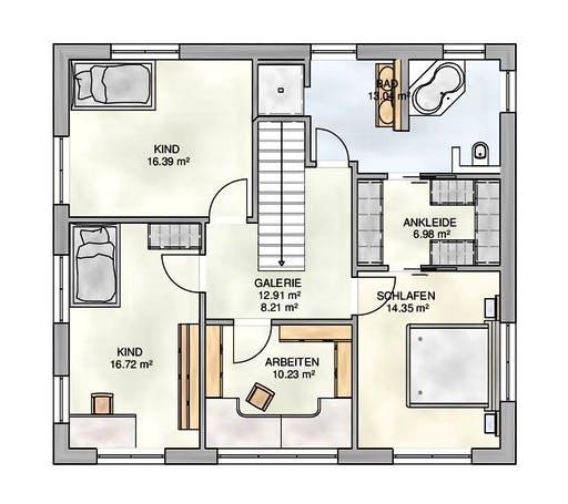 Kampa - EFH Walmdach Floorplan 2
