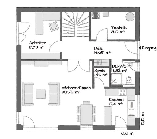 Kampa Setros 1.1621 Floorplan 1
