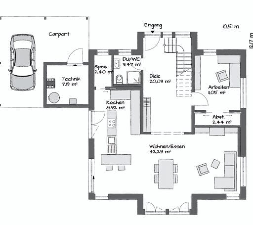 Kampa Tritos 1.1730 Floorplan 1