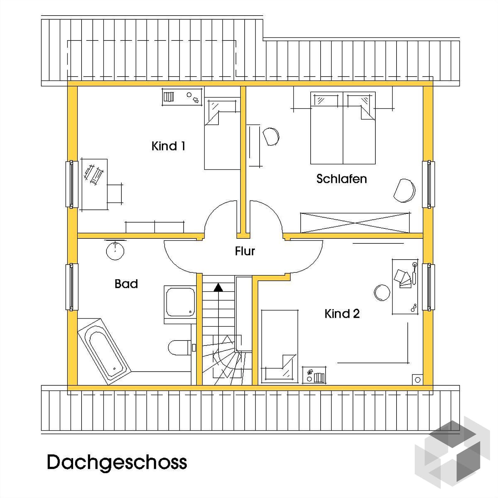 kathrin 2 kfw effizienzhaus 40 von dammann haus komplette daten bersicht. Black Bedroom Furniture Sets. Home Design Ideas