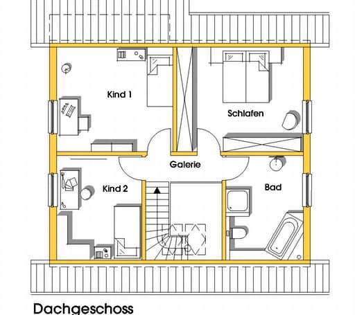 kathrin kfw effizienzhaus 40 von dammann haus. Black Bedroom Furniture Sets. Home Design Ideas