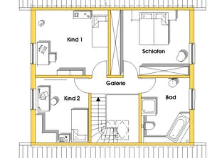 Kathrin (KfW-Effizienzhaus 40) Grundriss