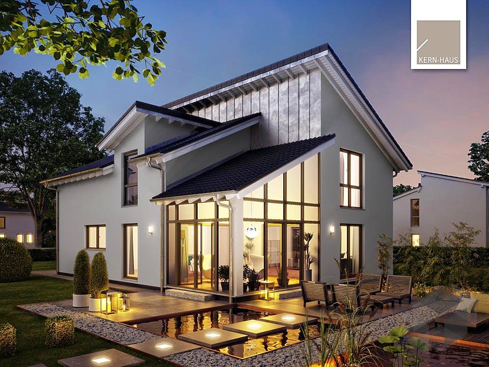 Architektenhaus Akzent von Kern-Haus Außenansicht