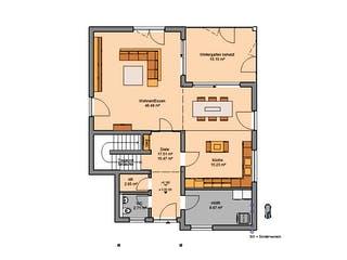 Architektenhaus Akzent von Kern-Haus Grundriss 1