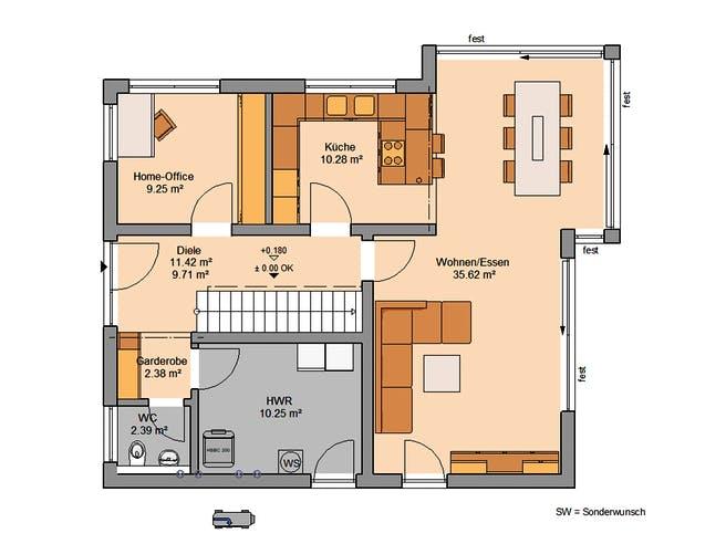 Architektenhaus Allea von Kern-Haus Grundriss 1
