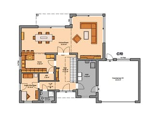Bauhaus Anteo von Kern-Haus Grundriss 1