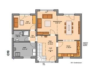 Architektenhaus Auro von Kern-Haus Grundriss 1