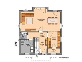 Architektenhaus Esprit von Kern-Haus Grundriss 1
