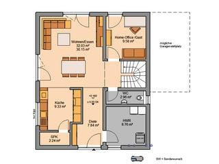 Architektenhaus Jara von Kern-Haus Grundriss 1