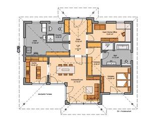 Bungalow Kalea von Kern-Haus Grundriss 1