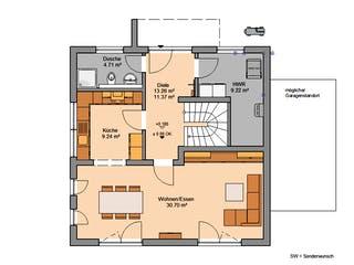 Bauhaus Puro von Kern-Haus Grundriss 1