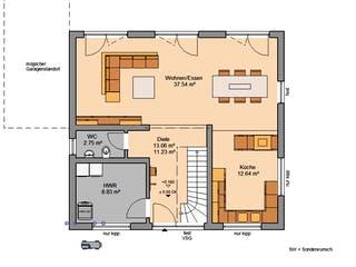 Architektenhaus Trend von Kern-Haus Grundriss 1