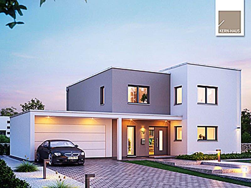 Bauhaus Kubushaus mit Garage von Kern-Haus