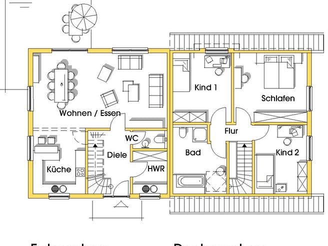 Kerstin 2 (KfW-Effizienzhaus 40) von Dammann-Haus Grundriss 1