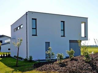 Musterhaus Holzbau von Kielwein Holzbau Außenansicht 1