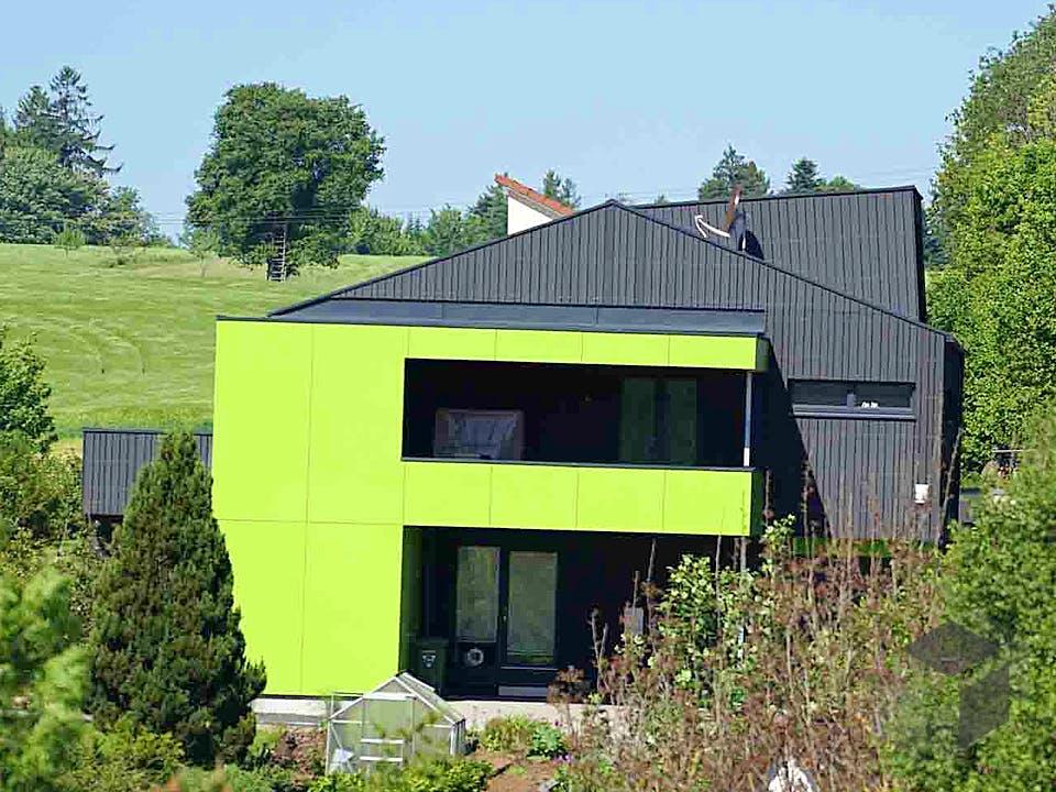 Musterhaus Zukunft von Kielwein Holzbau Außenansicht