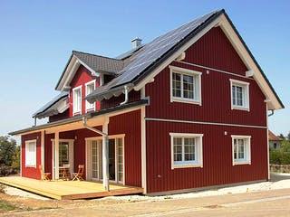 Schwedenhaus 160 von Kielwein Holzbau Außenansicht 1