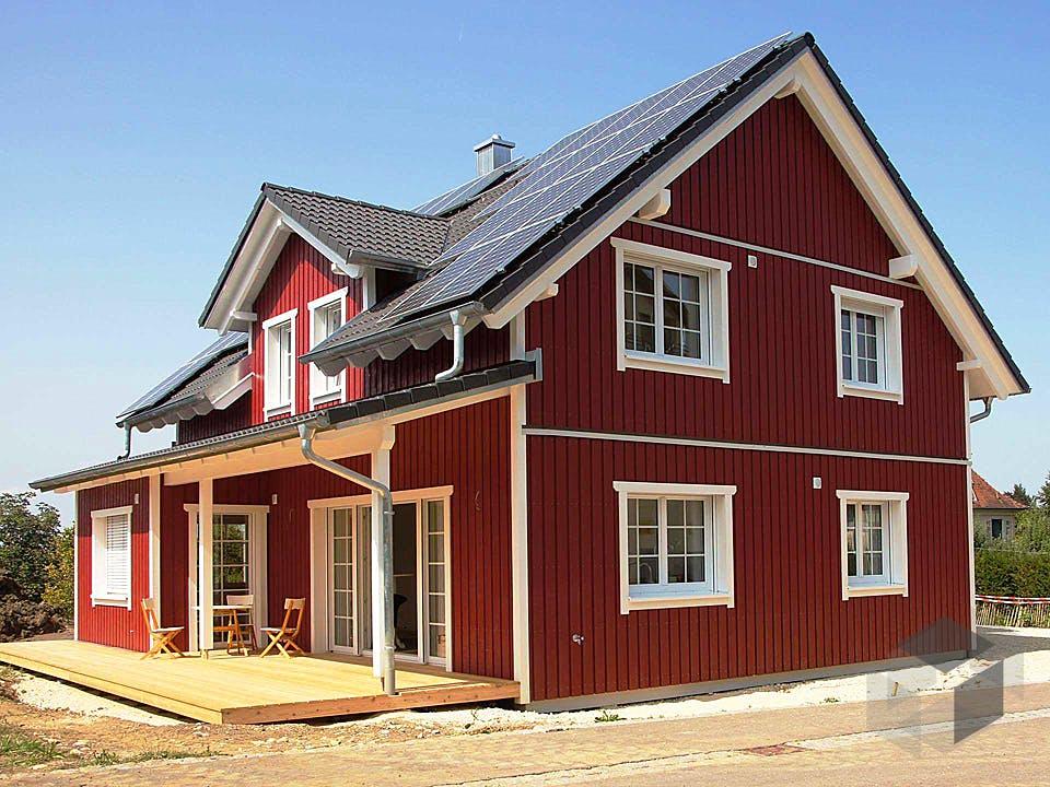 Schwedenhaus 160 von Kielwein Holzbau Außenansicht