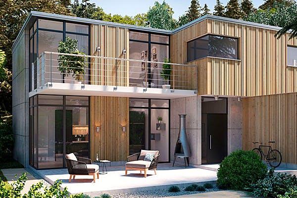 Modernes Kubushaus von Kielwein